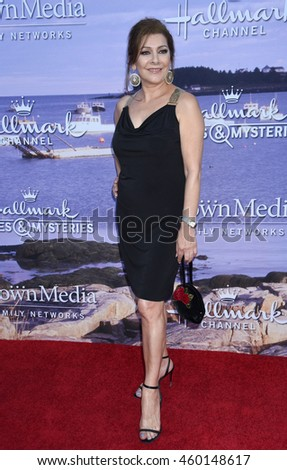 LOS ANGELES - JUL 27:  Marina Sirtis arrives to the Hallmark Channel and Hallmark Movies and Mysteries Summer 2016 TCA Press Tour Event  on July 27, 2016 in Beverly Hills, CA                 - stock photo