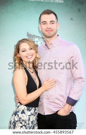 "LOS ANGELES - JUL 19:  Sammi Hanratty, Lucas Speed Eichorn Watson, aka Speedy at the ""Lights Out"" Los Angeles Premiere at the TCL Chinese Theater IMAX on July 19, 2016 in Los Angeles, CA - stock photo"