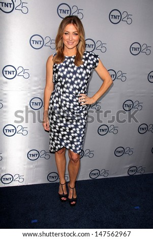 LOS ANGELES - JUL 24:  Sasha Alexander arrives at TNT's 25th Anniversary Party at the Beverly Hilton Hotel on July 24, 2013 in Beverly Hills, CA - stock photo