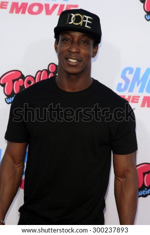 "LOS ANGELES - JUL 22:  Shaka Smith at the ""SMOSH: THE MOVIE""  Premiere at the Village Theater on July 22, 2015 in Westwood, CA - stock photo"