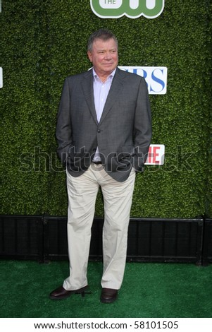 LOS ANGELES - JUL 28:  William Shatner arrives at the 2010 CBS, The CW, Showtime Summer Press Tour Party  at The Tent Adjacent to Beverly Hilton Hotel on July28, 2010 in Beverly Hills, CA ... - stock photo