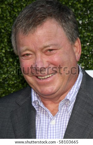 LOS ANGELES - JUL 28:  William Shatner arrives at the 2010 CBS, The CW, Showtime Summer Press Tour Party  at The Tent Adjacent to Beverly Hilton Hotel on July 28, 2010 in Beverly Hills, CA ... - stock photo