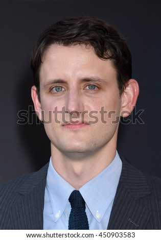 "LOS ANGELES - JUL 9:  Zach Woods arrives to the ""Ghostbusters"" World Premiere  on July 9, 2016 in Hollywood, CA                 - stock photo"
