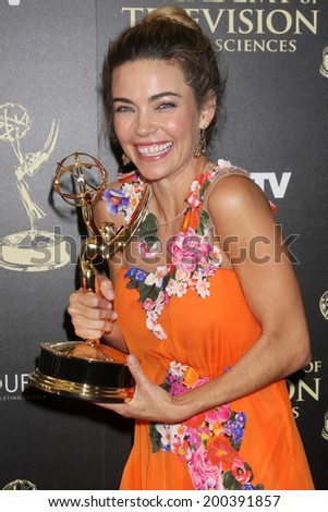 LOS ANGELES - JUN 22:  Amelia Heinle at the 2014 Daytime Emmy Awards Press Room at the Beverly Hilton Hotel on June 22, 2014 in Beverly Hills, CA - stock photo