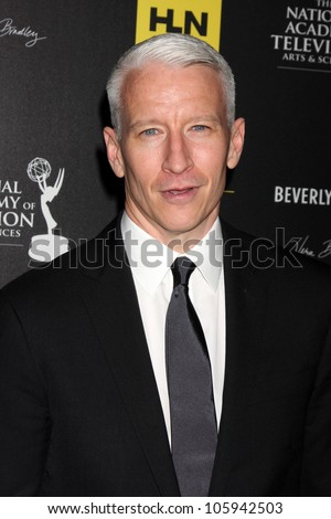 LOS ANGELES - JUN 23:  Anderson Cooper arrives at the 2012 Daytime Emmy Awards at Beverly Hilton Hotel on June 23, 2012 in Beverly Hills, CA - stock photo