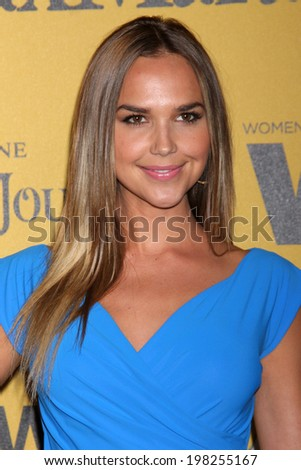 LOS ANGELES - JUN 11:  Arielle Kebbel at the Women In Film 2014 Crystal + Lucy Awards at Century Plaza Hotel on June 11, 2014 in Beverly Hills, CA - stock photo