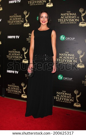 LOS ANGELES - JUN 22:  Ashleigh Brewer at the 2014 Daytime Emmy Awards Arrivals at the Beverly Hilton Hotel on June 22, 2014 in Beverly Hills, CA - stock photo