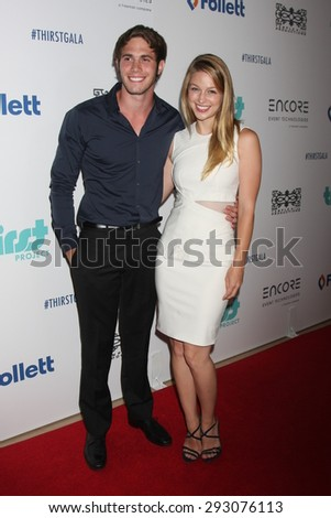 LOS ANGELES - JUN 30:  Blake Jenner, Melissa Benoist at the 6th Annual Thirst Gala at the Beverly Hilton Hotel on June 30, 2015 in Beverly Hills, CA - stock photo
