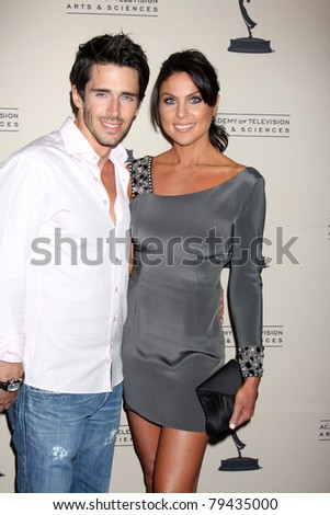 LOS ANGELES - JUN 16:  Brandon Beemer, Nadia Bjorlin arriving at the ATAS Daytime Emmy Nominee Reception at SLS Hotel at Beverly Hills on June 16, 2011 in Beverly Hills, CA - stock photo