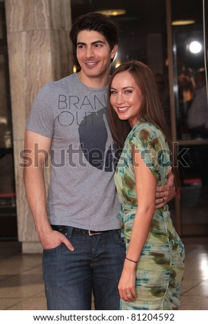 LOS ANGELES - JUN 21:  BRANDON ROUTH & COURTNEY FORD arrives to HBO's 'True Blood' Season 4 Premiere  on June 21,2011 in Hollywood, CA - stock photo
