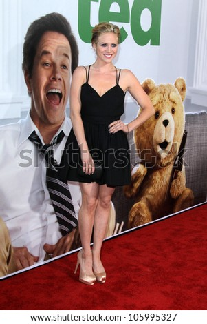 """LOS ANGELES - JUN 21:  Brittany Snow arrives at the """"Ted"""" Premiere at Village Theater on June 21, 2012 in Westwood, CA - stock photo"""