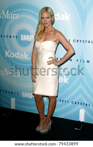 LOS ANGELES - JUN 16:  Brittany Snow arrives at the 2011 Women In Film Crystal + Lucy Awards  at Beverly Hilton Hotel  on June 16, 2011 in Beverly Hills, CA - stock photo
