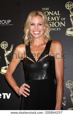 LOS ANGELES - JUN 22:  Brooke Burns at the 2014 Daytime Emmy Awards Arrivals at the Beverly Hilton Hotel on June 22, 2014 in Beverly Hills, CA - stock photo