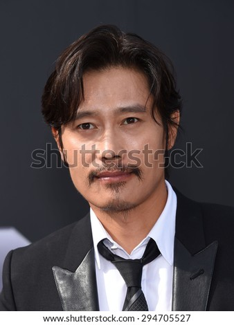"LOS ANGELES - JUN 28:  Byung-hun Lee arrives to the ""Terminator Genisys"" Los Angeles Premiere  on June 28, 2015 in Hollywood, CA                 - stock photo"
