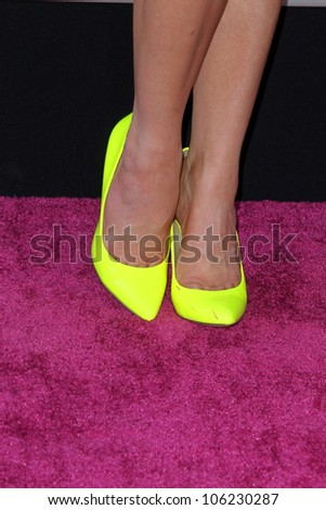 """LOS ANGELES - JUN 26:  Carly Rae Jepsen arrives at the """"Katy Perry: Part Of Me"""" Premiere at Graumans Chinese Theater on June 26, 2012 in Los Angeles, CA - stock photo"""