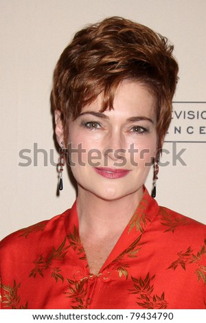 LOS ANGELES - JUN 16:  Carolyn Hennesy arrives at the ATAS Daytime Emmy Nominee Reception at SLS Hotel at Beverly Hills on June 16, 2011 in Beverly Hills, CA - stock photo