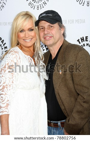 LOS ANGELES - JUN 7:  Catherine Hickland, Todd Fisher arrive at the Debbie Reynolds Hollywood Memorabilia Collection Auction Preview at Paley Center For Media on June 7, 2011 in Beverly Hills, CA - stock photo