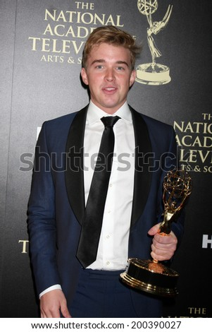 LOS ANGELES - JUN 22:  Chandler Massey at the 2014 Daytime Emmy Awards Press Room at the Beverly Hilton Hotel on June 22, 2014 in Beverly Hills, CA - stock photo