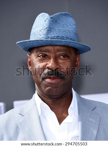 "LOS ANGELES - JUN 28:  Courtney B. Vance arrives to the ""Terminator Genisys"" Los Angeles Premiere  on June 28, 2015 in Hollywood, CA                 - stock photo"