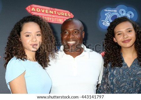 LOS ANGELES - JUN 23:  Daughter, Phill Lewis at the 100th DCOM Adventures In Babysitting LA Premiere Screening at the Directors Guild of America on June 23, 2016 in Los Angeles, CA - stock photo