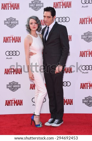 """LOS ANGELES - JUN 29:  David Dastmalchian arrives to the """"Ant-Man"""" World Premiere  on June 29, 2015 in Hollywood, CA                 - stock photo"""