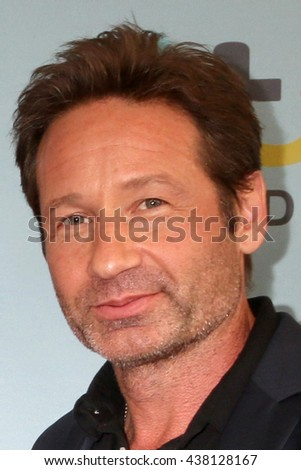 LOS ANGELES - JUN 16:  David Duchovny at the Aquarius Season 2 Premiere Screening Arrivals at the Paley Center For Media on June 16, 2016 in Beverly Hills, CA - stock photo