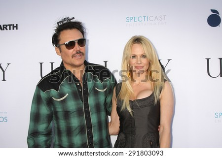 """LOS ANGELES - JUN 24:  David LaChapelle, Pamela Anderson at the """"Unity"""" Documentary World Premeire at the Director's Guild of America on June 24, 2015 in Los Angeles, CA - stock photo"""