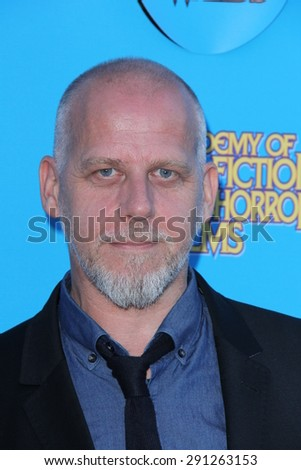 LOS ANGELES - JUN 25:  David White at the 41st Annual Saturn Awards Arrivals at the The Castaways on June 25, 2015 in Burbank, CA - stock photo