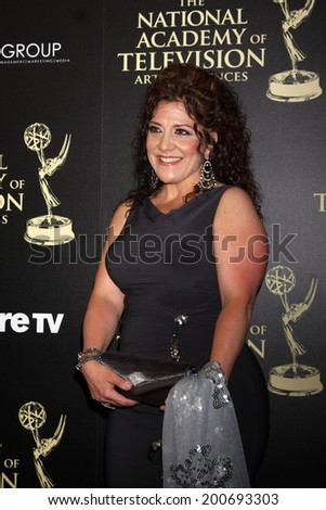 LOS ANGELES - JUN 22:  Debra Toscano at the 2014 Daytime Emmy Awards Arrivals at the Beverly Hilton Hotel on June 22, 2014 in Beverly Hills, CA - stock photo