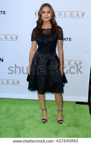 LOS ANGELES - JUN 15:  Desiree Ross at the Greenleaf OWN Series Premiere at the The Lot on June 15, 2016 in West Hollywood, CA - stock photo