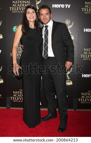 LOS ANGELES - JUN 22:  Dominic Zamprogna at the 2014 Daytime Emmy Awards Arrivals at the Beverly Hilton Hotel on June 22, 2014 in Beverly Hills, CA - stock photo