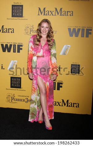 LOS ANGELES - JUN 11:  Emma Bell at the Women In Film 2014 Crystal + Lucy Awards at Century Plaza Hotel on June 11, 2014 in Beverly Hills, CA - stock photo