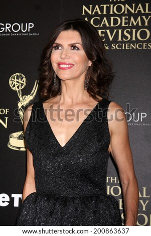 LOS ANGELES - JUN 22:  Finola Hughes at the 2014 Daytime Emmy Awards Arrivals at the Beverly Hilton Hotel on June 22, 2014 in Beverly Hills, CA - stock photo