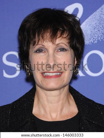 LOS ANGELES - JUN 12:  Gale Anne Hurd arrives to the Women In Film's 2013 Crystal + Lucy Awards  on June 12,2013 in Beverly Hills, CA                 - stock photo