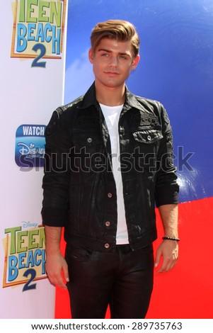 "LOS ANGELES - JUN 22:  Garrett Clayton at the ""Teen Beach 2"" Premiere  at the Walt Disney Studios on June 22, 2015 in Burbank, CA - stock photo"