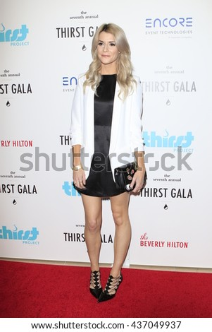 LOS ANGELES - JUN 13:  Grace Helbig at the 7th Annual Thirst Gala at the Beverly Hilton Hotel on June 13, 2016 in Beverly Hills, CA - stock photo