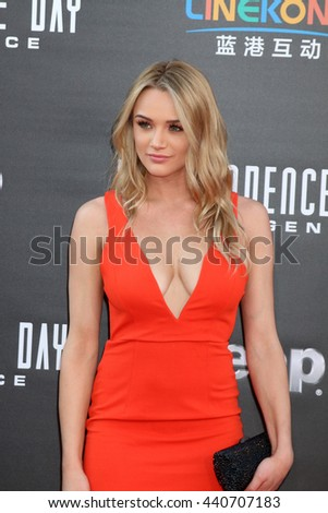 LOS ANGELES - JUN 20:  Hunter King at the Independence Day: Resurgence LA Premiere at the TCL Chinese Theater IMAX on June 20, 2016 in Los Angeles, CA - stock photo