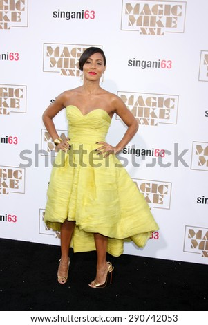 "LOS ANGELES - JUN 25:  Jada Pinkett Smith at the ""Magic Mike XXL"" Premiere at the TCL Chinese Theater on June 25, 2015 in Los Angeles, CA - stock photo"