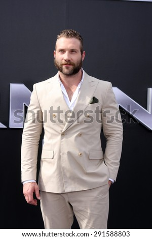 """LOS ANGELES - JUN 28:  Jai Courtney at the """"Terminator Genisys"""" Los Angeles Premiere at the Dolby Theater on June 28, 2015 in Los Angeles, CA - stock photo"""