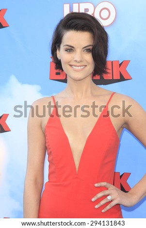 LOS ANGELES - JUN 8: Jaimie Alexander at the Premiere of HBO's 'The Brink' at the Paramount Theater at Paramount Studios on June 8, 2015 in Los Angeles, CA - stock photo
