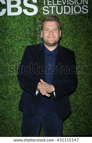 LOS ANGELES - JUN 2:  James Corden at the 4th Annual CBS Television Studios Summer Soiree at the Palihouse on June 2, 2016 in West Hollywood, CA - stock photo