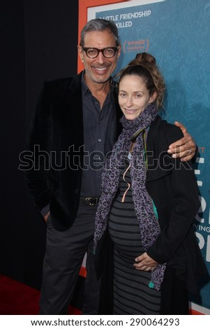 """LOS ANGELES - JUN 3:  Jeff Goldblum, Emilie Livingston at the """"Me And Earl And The Dying Girl"""" LA Premiere  at the Harmony Gold Theatre on June 3, 2015 in Los Angeles, CA - stock photo"""