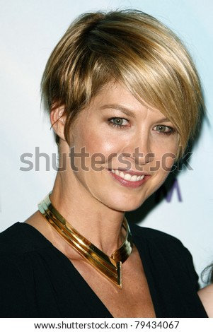 LOS ANGELES - JUN 16:  Jenna Elfman arrives at the 2011 Women In Film Crystal + Lucy Awards  at Beverly Hilton Hotel  on June 16, 2011 in Beverly Hills, CA - stock photo