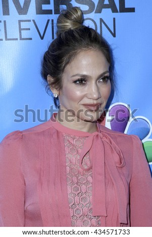 LOS ANGELES - JUN 9:  Jennifer Lopez at the Shades of Blue Television Academy Event at the Saban Media Center on June 9, 2016 in North Hollywood, CA - stock photo