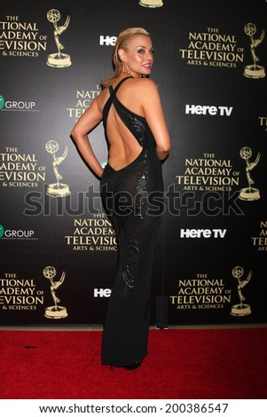 LOS ANGELES - JUN 22:  Jessica Collins at the 2014 Daytime Emmy Awards Arrivals at the Beverly Hilton Hotel on June 22, 2014 in Beverly Hills, CA - stock photo