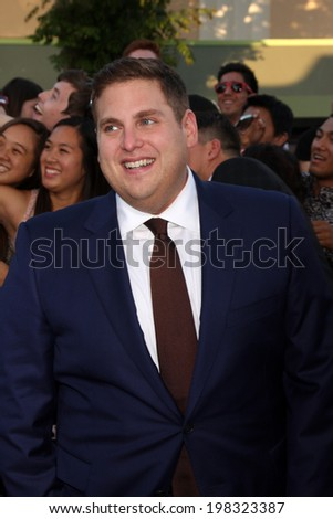"LOS ANGELES - JUN 10:  Jonah Hill at the ""22 Jump Street"" Premiere at Village Theater on June 10, 2014 in Westwood, CA - stock photo"
