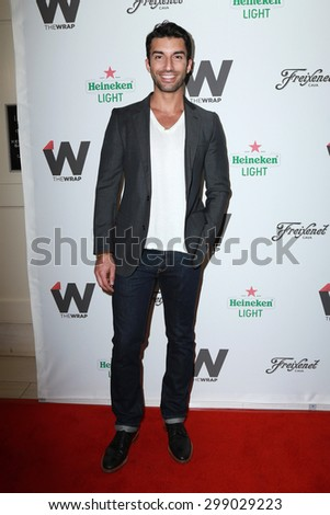 LOS ANGELES - JUN 11:  Justin Baldoni at the TheWrap's 2nd Annual Emmy Party at the London Hotel on June 11, 2015 in West Hollywood, CA  - stock photo