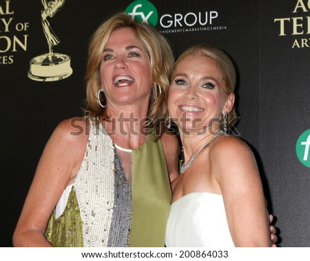 LOS ANGELES - JUN 22:  Kassie DePavia, Melissa Reeves at the 2014 Daytime Emmy Awards Arrivals at the Beverly Hilton Hotel on June 22, 2014 in Beverly Hills, CA - stock photo