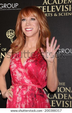 LOS ANGELES - JUN 22:  Kathy Griffin at the 2014 Daytime Emmy Awards Arrivals at the Beverly Hilton Hotel on June 22, 2014 in Beverly Hills, CA - stock photo
