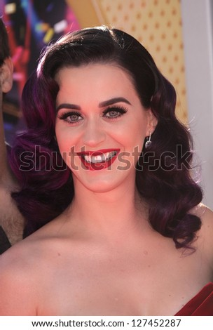 """LOS ANGELES - JUN 26:  Katy Perry arriving to """"Katy Perry: Part Of Me"""" Los Angeles Premiere  on June 26, 2012 in Hollywood, CA - stock photo"""